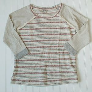 Lucky brand 3/4 sleeve pullover sweater size s